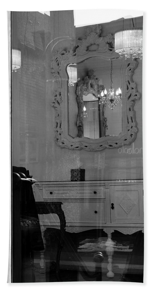 Doorway Bath Sheet featuring the photograph Inside The Shop by Debbie Nobile