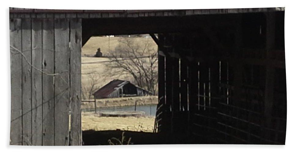 Kentucky Barn Hand Towel featuring the photograph Barn - Kentucky - Inside Treasure by Jan Dappen