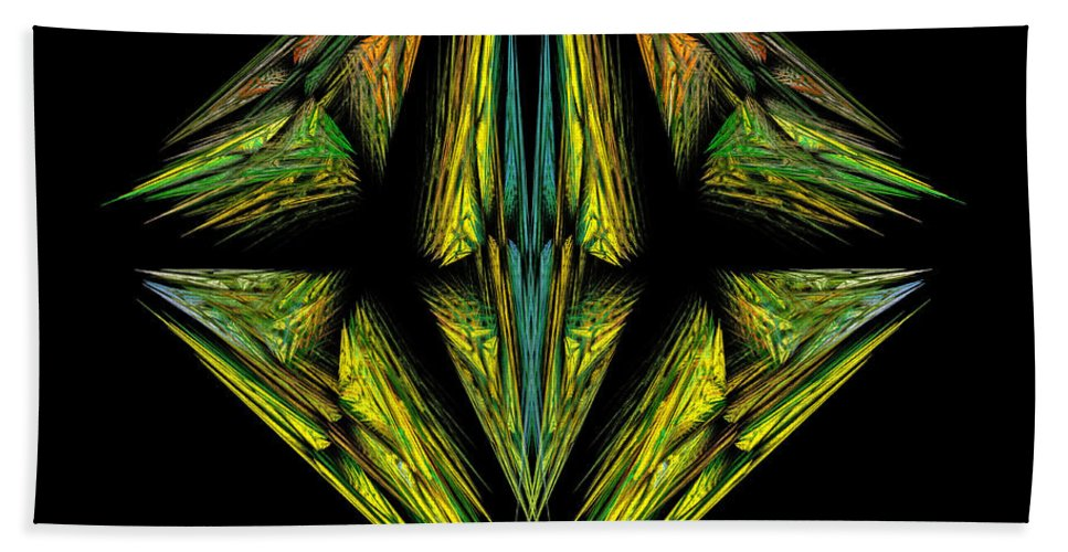 Digital Hand Towel featuring the digital art Insignia by Kevin Round