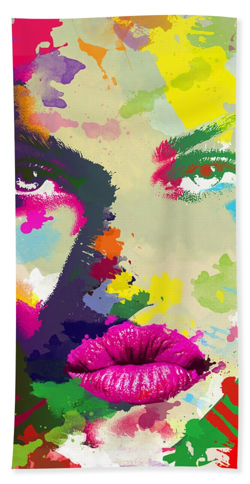 Female Bath Sheet featuring the digital art Intensity by Anthony Mwangi