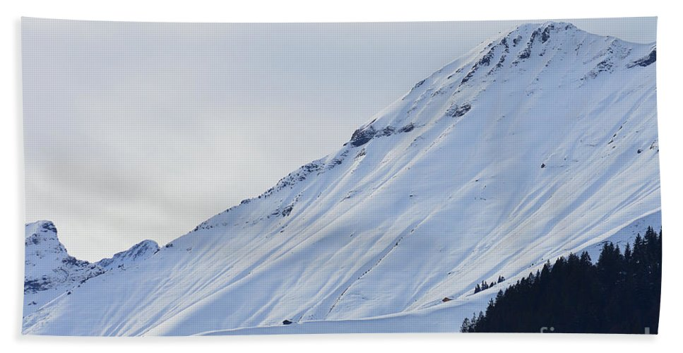 Alps Hand Towel featuring the photograph Interfluence by Felicia Tica