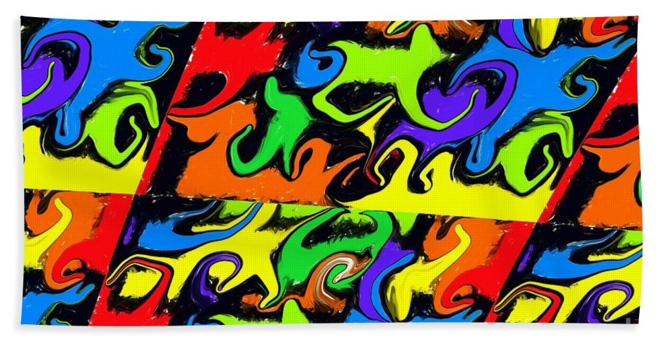 Colourful Hand Towel featuring the digital art Intergalactic by Chris Butler