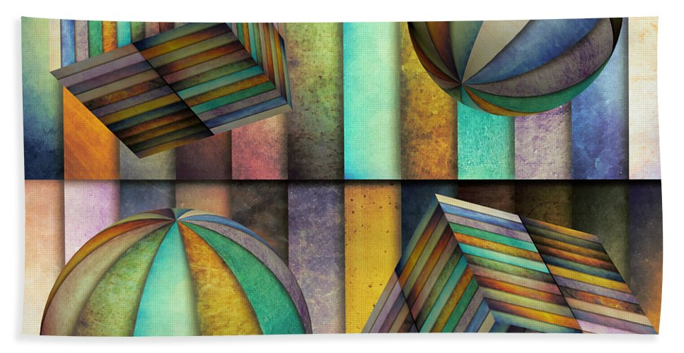 Id Bath Sheet featuring the mixed media Interior Design 3 by Angelina Vick