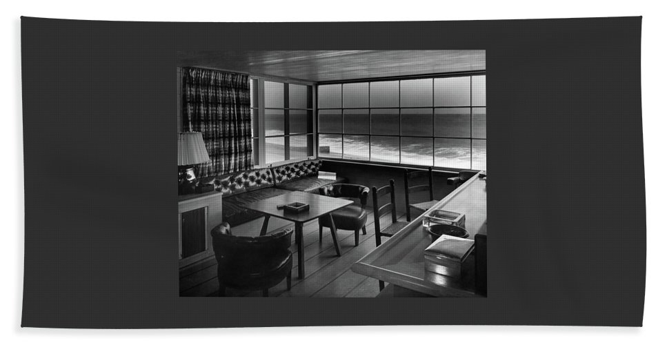 Interior Of Beach House Owned By Anatole Litvak Bath Towel