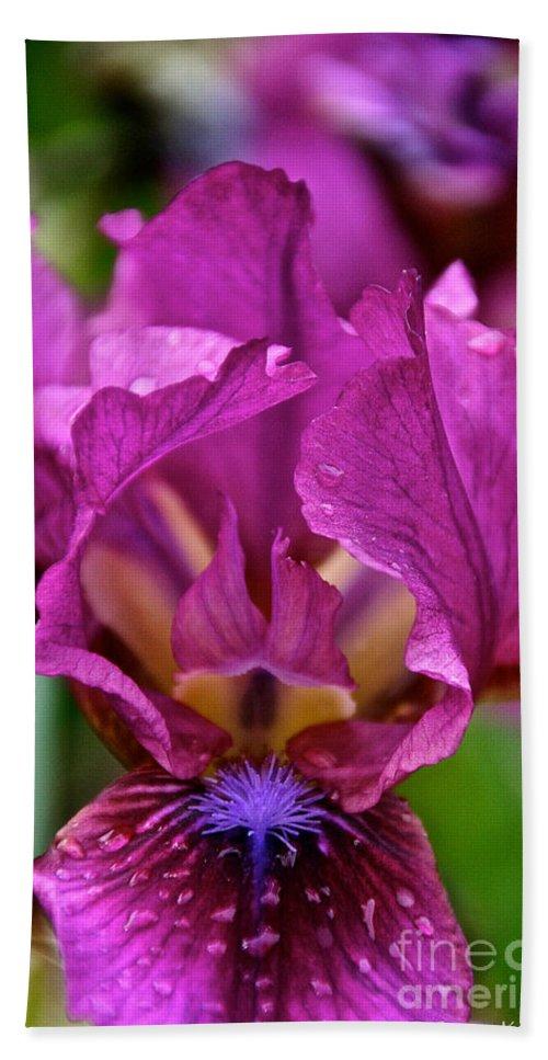 Flower Bath Sheet featuring the photograph Internal Affair by Susan Herber