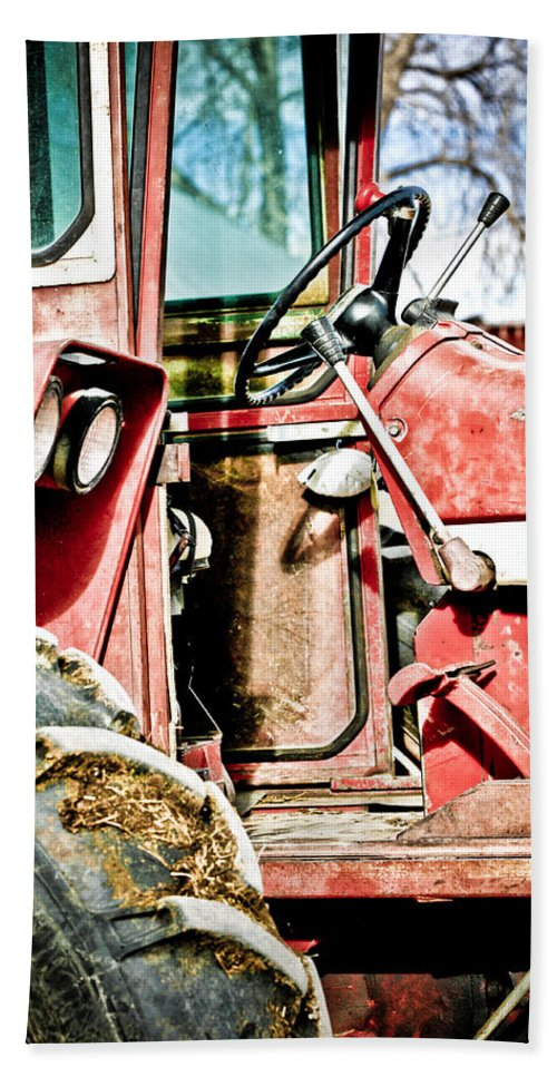 Boulder Bath Sheet featuring the photograph International Harvester 2 by Marilyn Hunt