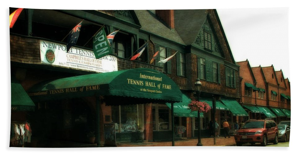 Newport Hand Towel featuring the photograph International Tennis Hall Of Fame by Michelle Calkins