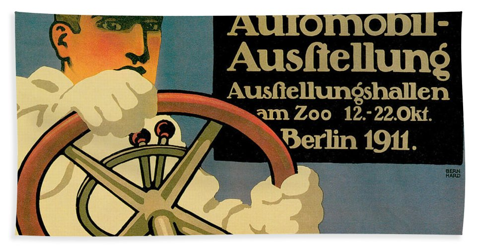 Vintage Automobile Ads And Posters Hand Towel featuring the photograph Internationale Automobile Ausftellung by Vintage Automobile Ads and Posters