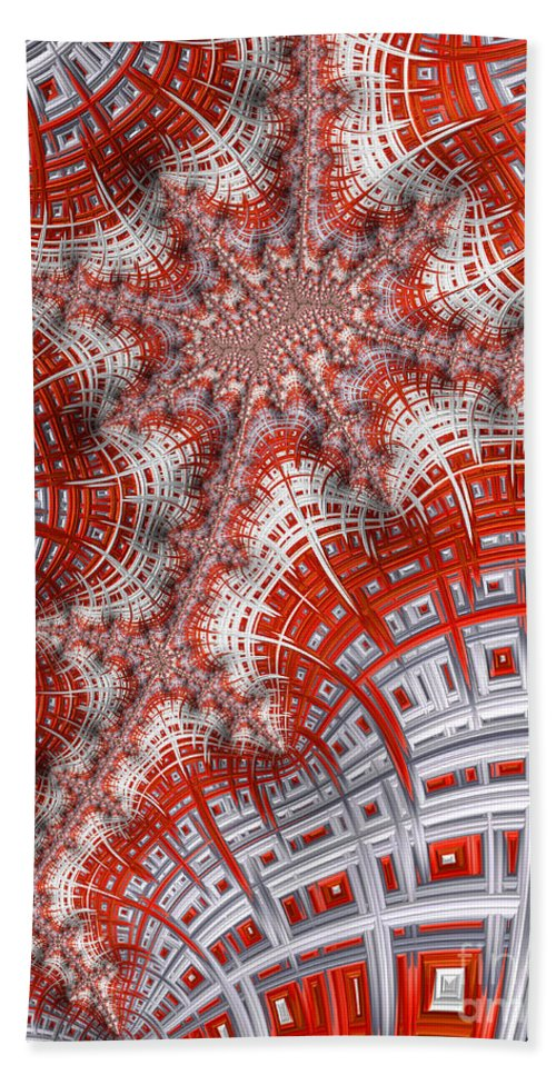 Art Hand Towel featuring the digital art Intersecting by Heidi Smith