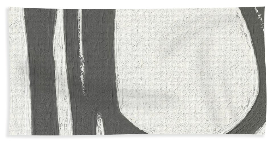 Abstract Hand Towel featuring the painting Intersection by Linda Woods