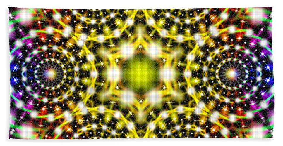 Interstellar Mind Travel Hand Towel featuring the digital art Interstellar Mind Travel by Derek Gedney