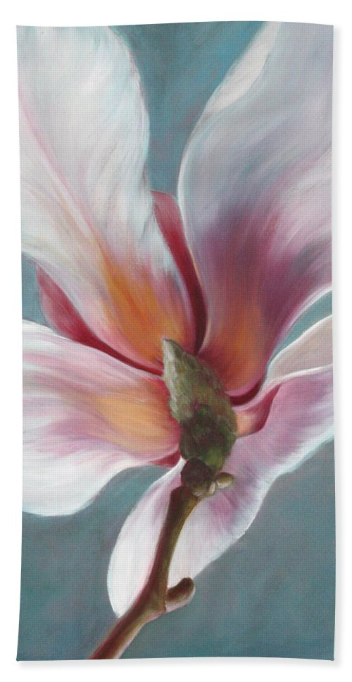Magnolia Hand Towel featuring the painting Intimate Apparel by Sandi Whetzel