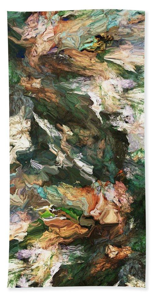 Fine Art Bath Sheet featuring the digital art Into The Canyon by David Lane