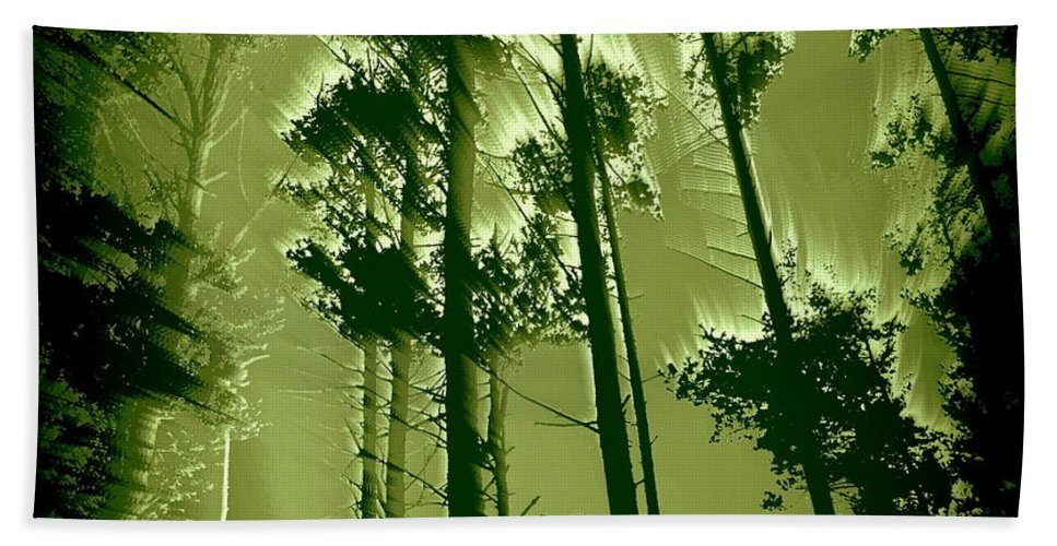 Forest Bath Sheet featuring the photograph Into The Forest by Mim White