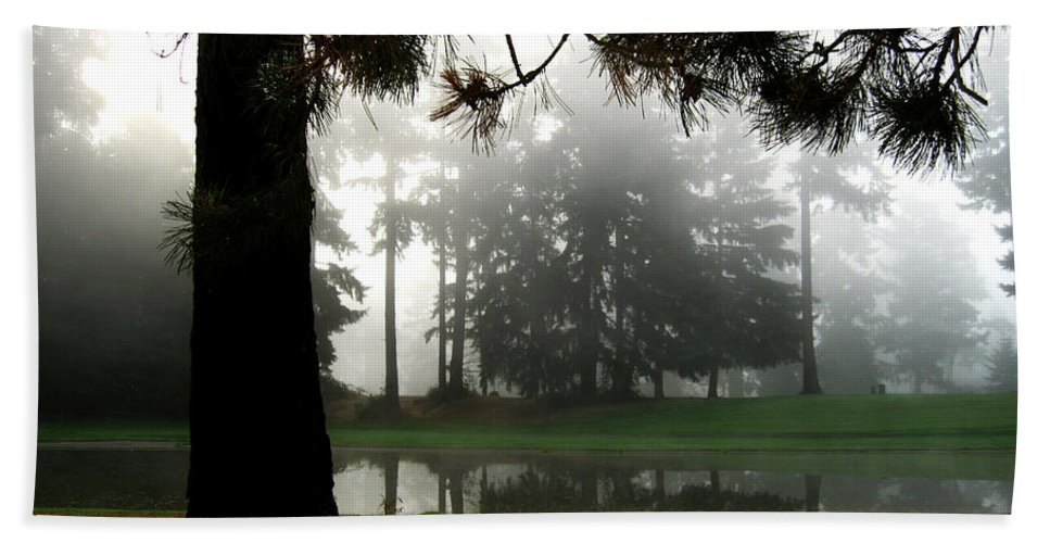 Landscape Hand Towel featuring the photograph Into The Mist by Carlene Salazar