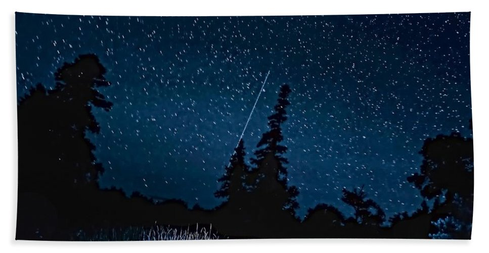 Galaxy Hand Towel featuring the photograph Into The Night by Steve Harrington