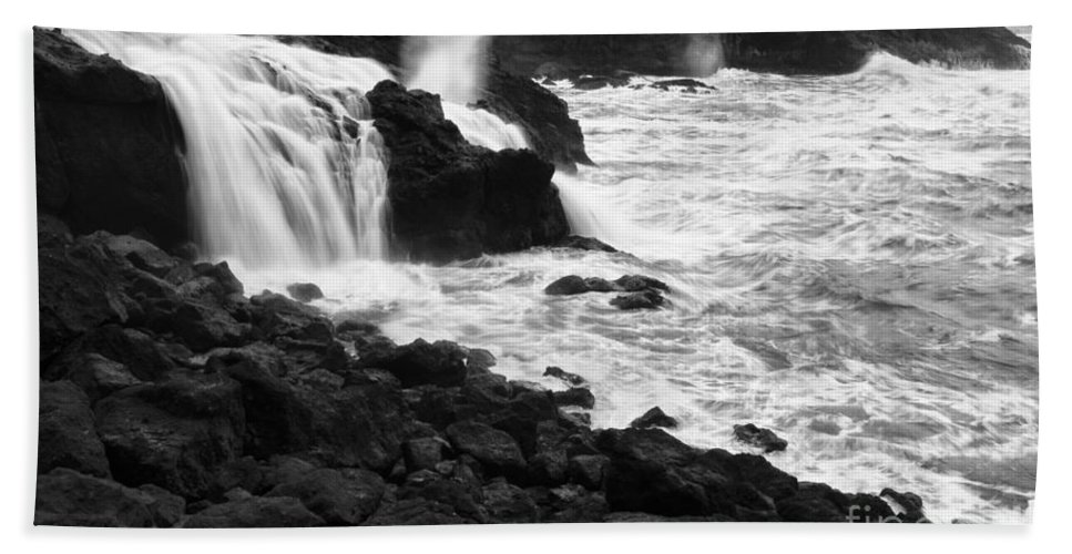 Falls Bath Sheet featuring the photograph Into The Sea by Bob Christopher