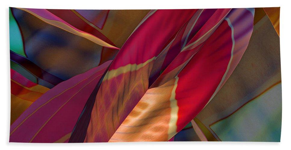 Abstract Bath Sheet featuring the digital art Into The Soul by Deborah Benoit