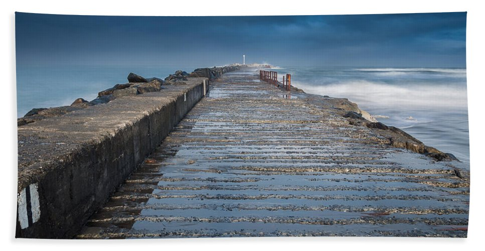 Stormy Skies Hand Towel featuring the photograph Into The Storm by Greg Nyquist
