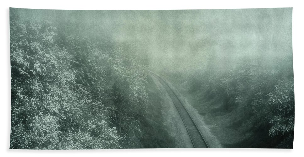 Atmospheric Hand Towel featuring the digital art Into Unknown by Svetlana Sewell