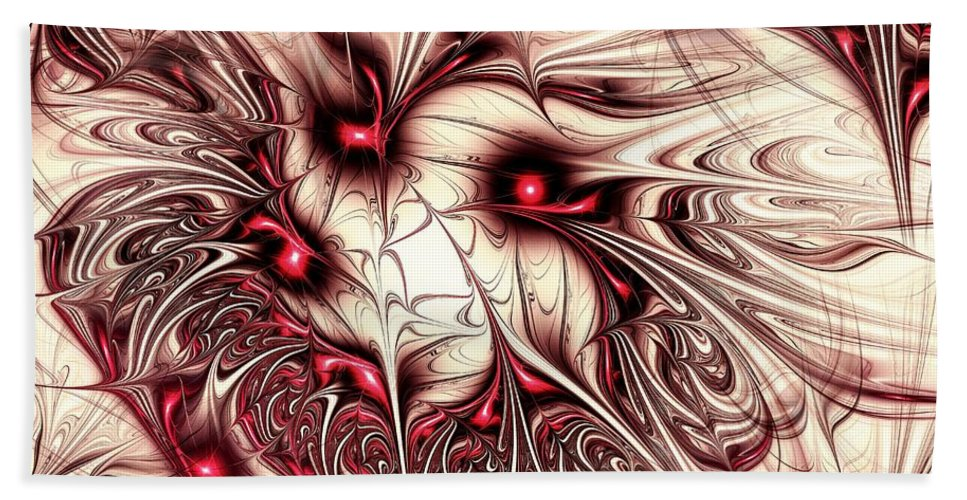 Malakhova Bath Towel featuring the digital art Invasion by Anastasiya Malakhova