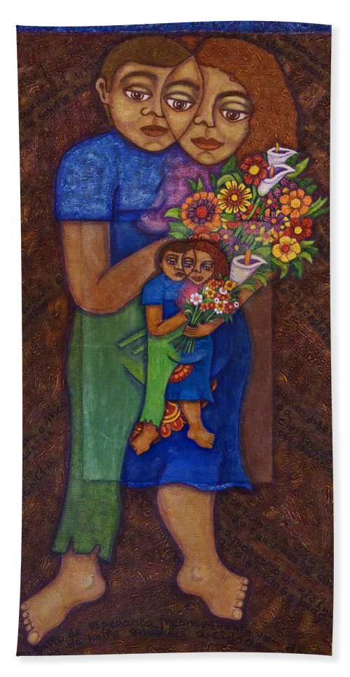 Invention Of Love Hand Towel featuring the painting Invention Of Love by Madalena Lobao-Tello