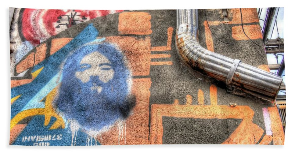 Graffiti Bath Sheet featuring the photograph Invisible God by Anthony Wilkening