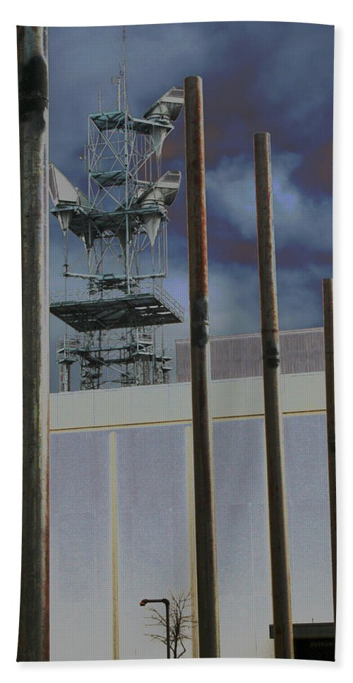 Industrial Hand Towel featuring the photograph Invisible Industry by Ric Bascobert