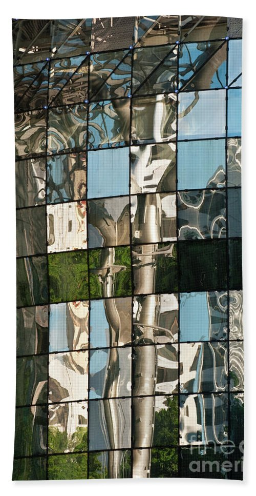 Singapore Bath Sheet featuring the photograph Ion Orchard Reflections by Rick Piper Photography