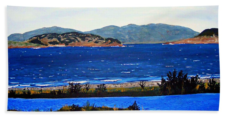 Islands Bath Towel featuring the painting Iona formerly Rams Islands by Barbara Griffin