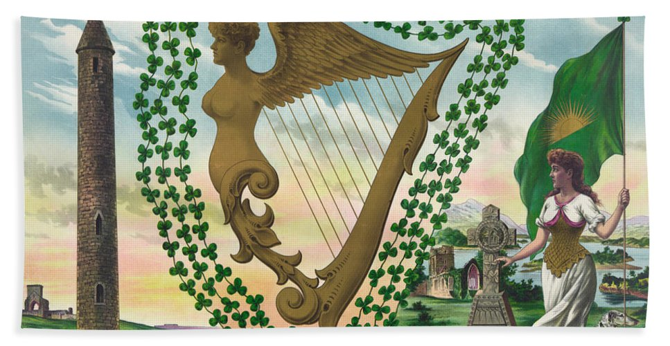 1894 Hand Towel featuring the painting Ireland 1894 by Granger