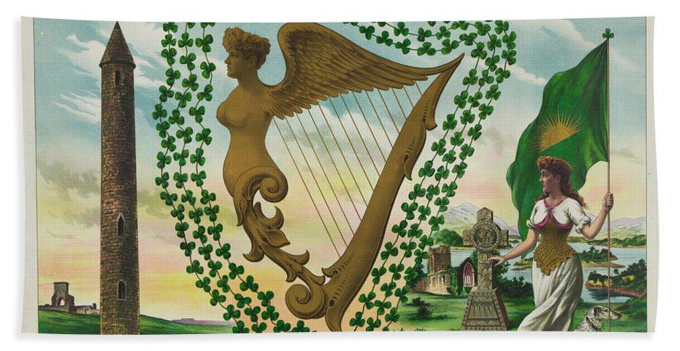 Irelands Bath Sheet featuring the photograph Irelands Historical Emblems by Bill Cannon