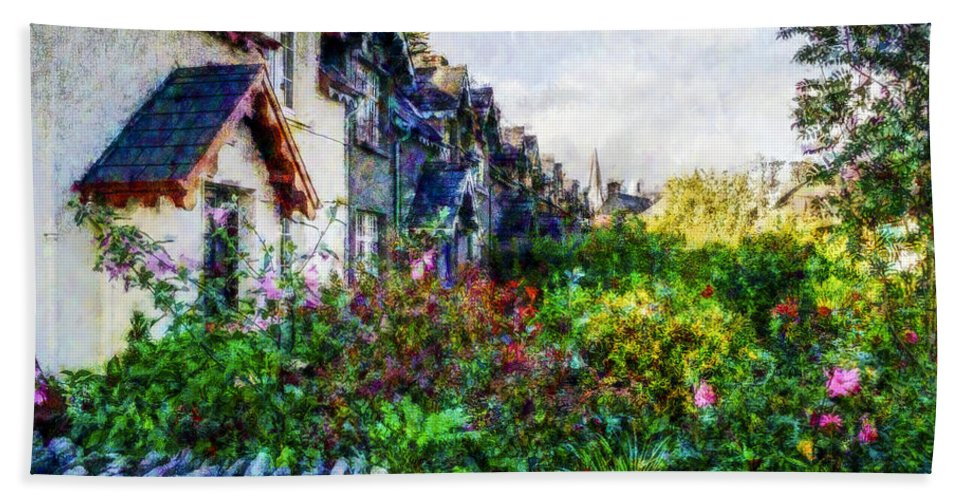 Landscape Bath Towel featuring the photograph Irish Garden Water Color by David Lange