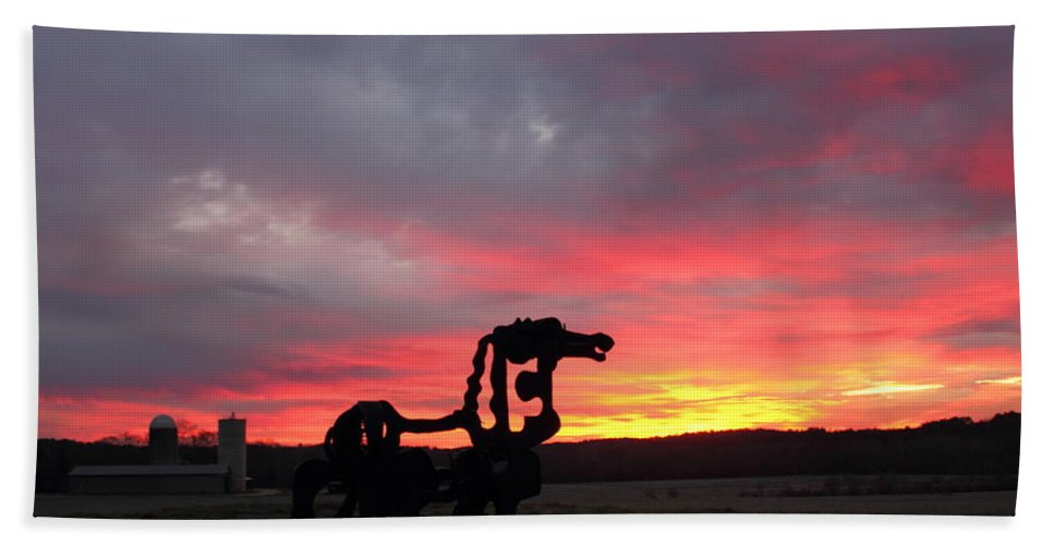 The Iron Horse Bath Sheet featuring the photograph Iron Horse Waiting by Reid Callaway
