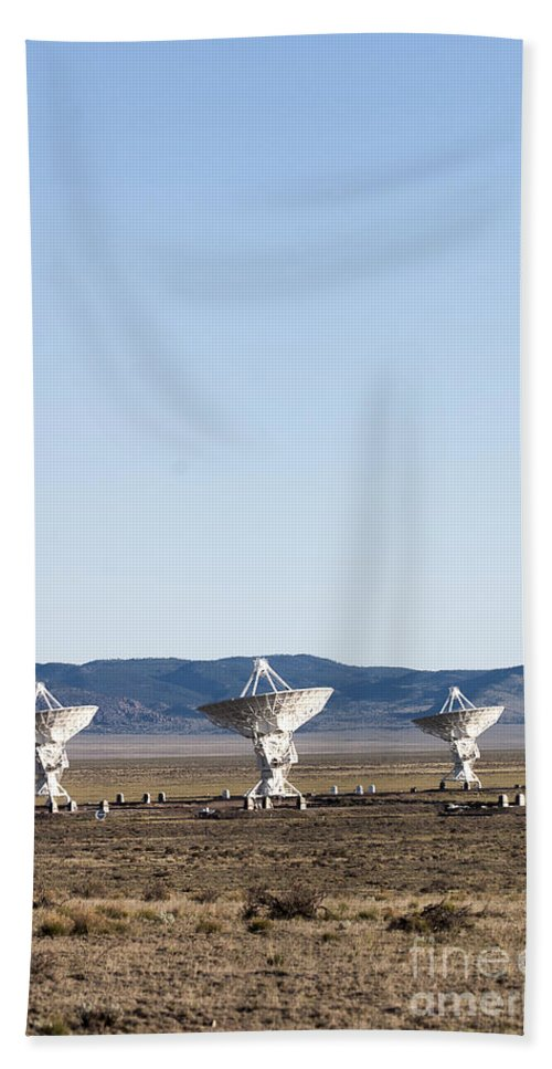 New Mexico Bath Sheet featuring the photograph Is There Something Out There by Steven Ralser