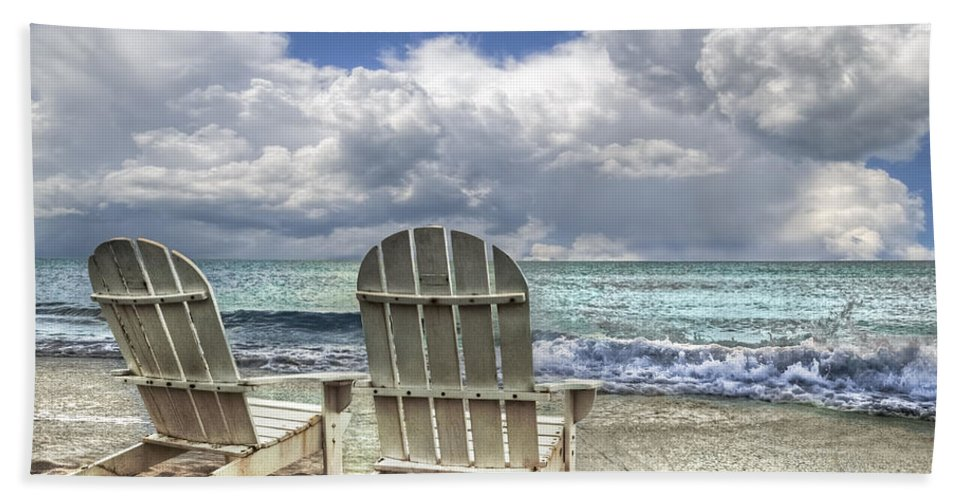 Clouds Bath Sheet featuring the photograph Island Attitude by Debra and Dave Vanderlaan