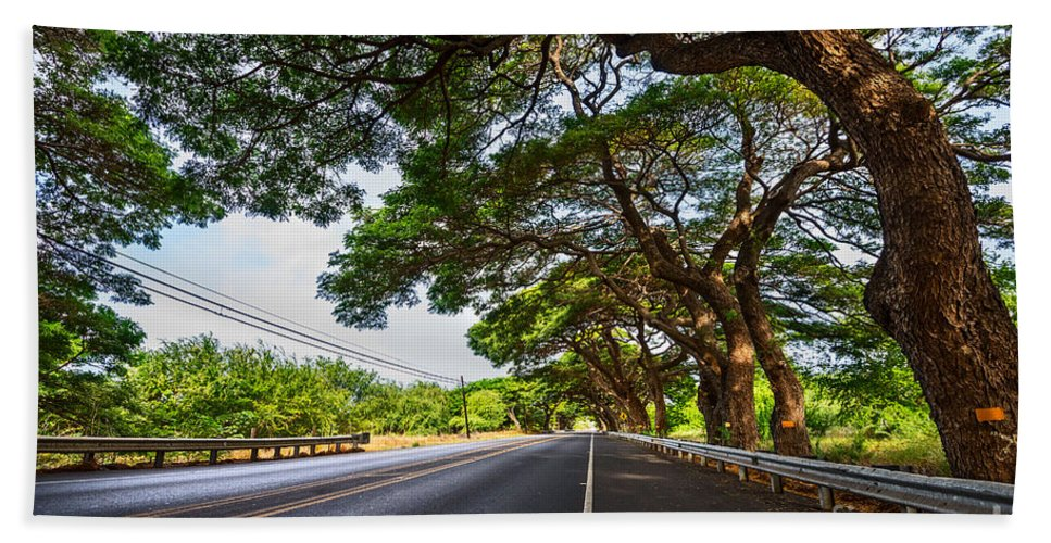 Maui Hand Towel featuring the photograph Island Drive by Jamie Pham