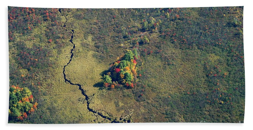 Fall Hand Towel featuring the photograph Island Of Fall Color by Kenny Glotfelty