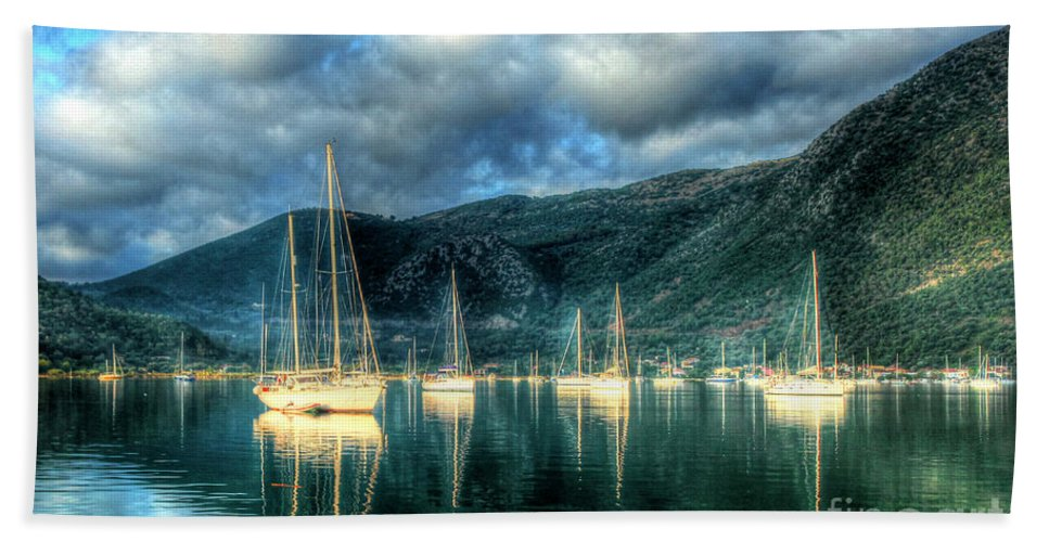 Greece Bath Sheet featuring the photograph Island Of Lefkada by Linda Arnado