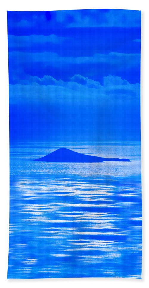 Blue Hawaii Bath Sheet featuring the photograph Island Of Yesterday Wide Crop by Christi Kraft