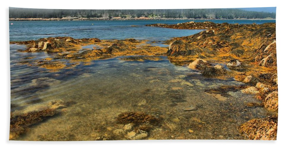 Acadia National Park Bath Sheet featuring the photograph Isle Au Haut Beach by Adam Jewell