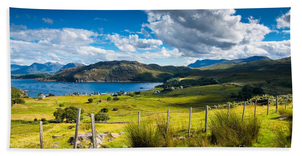 Scotland Hand Towel featuring the photograph Isle Of Skye In Scotland by Andreas Berthold