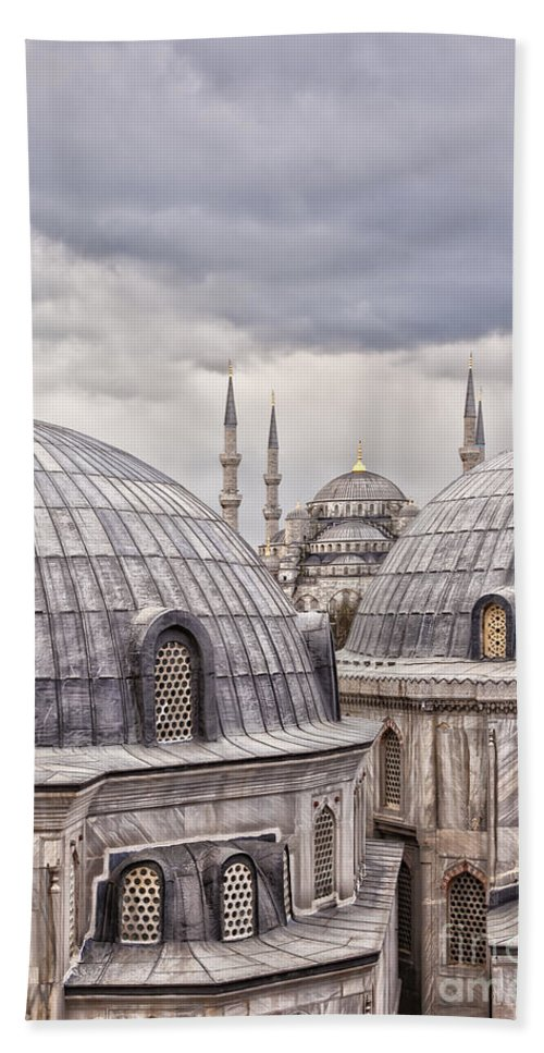 Hagia Sophia Hand Towel featuring the photograph Istanbul Landmarks by Sophie McAulay