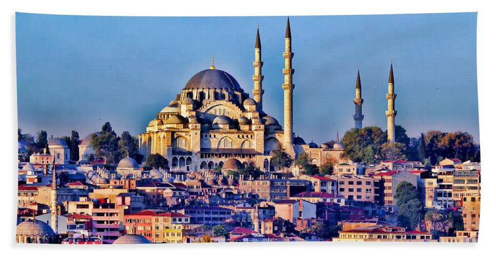 Europe Turkey Bath Sheet featuring the photograph Istanbul by Tom Prendergast