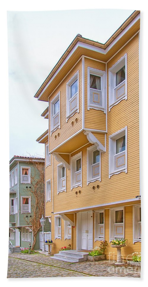 Turkey Hand Towel featuring the photograph Istanbul Wooden Houses 02 by Antony McAulay