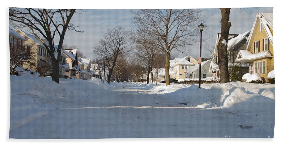 Winter Hand Towel featuring the photograph It Snowed by William Norton