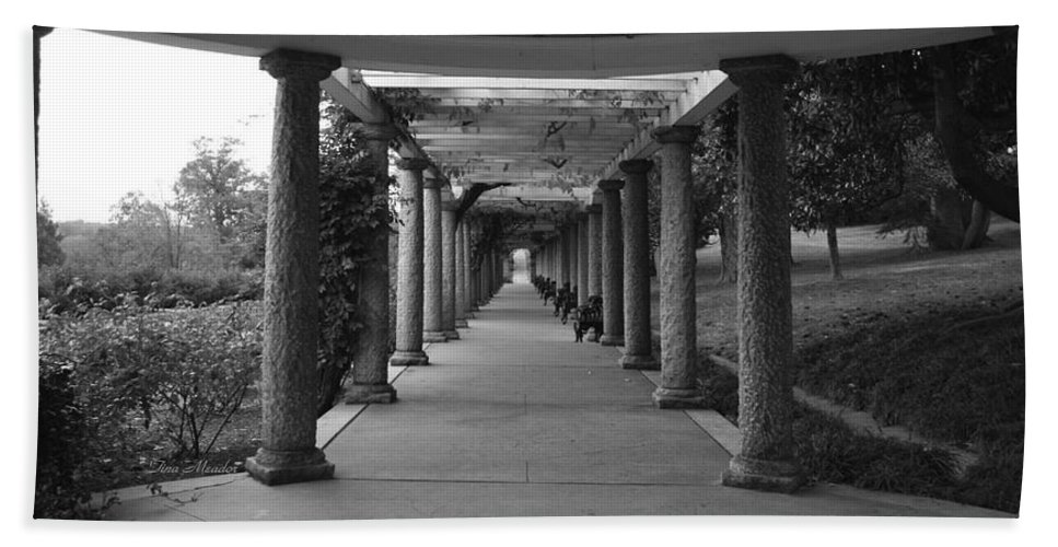 Maymont Hand Towel featuring the photograph Italian Garden by Tina Meador