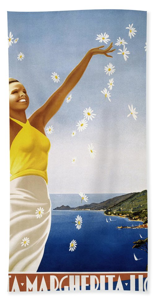 1951 Bath Sheet featuring the photograph Italian Travel Poster, 1951 by Granger