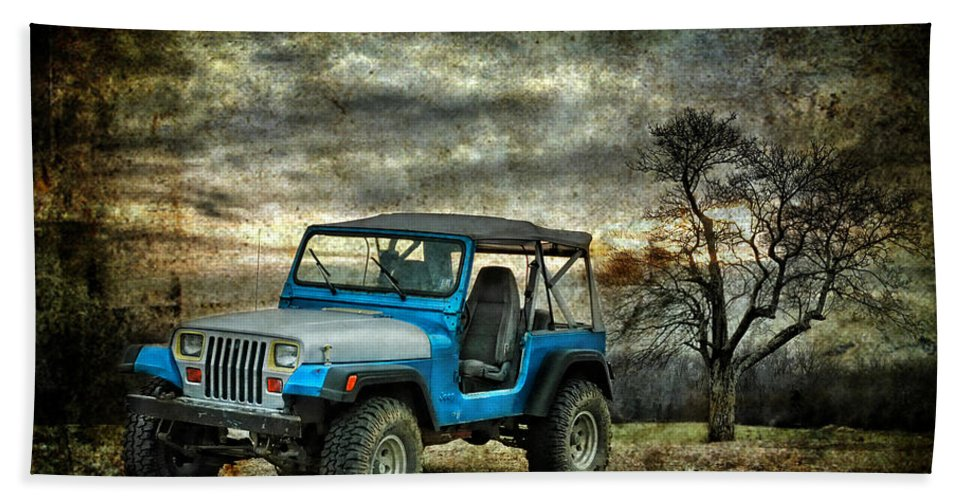 Jeep Bath Sheet featuring the photograph It's A Jeep Thing by Sami Martin