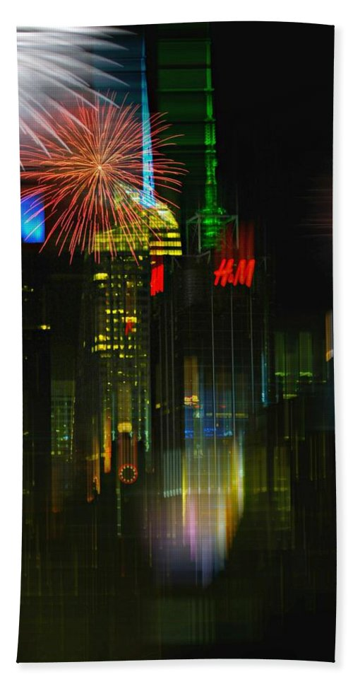 New York City Bath Sheet featuring the photograph It's New York by Diana Angstadt